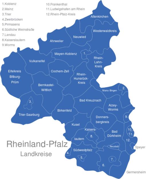 Rheinland Pfalz Landkreise