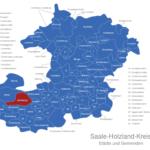 Map Saale Holzland Kreis Altenberga