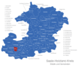 Map Saale Holzland Kreis Bibra