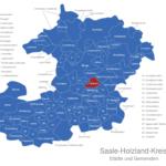 Map Saale Holzland Kreis Bobeck