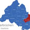 Map Saarbrücken Stadtteile Bischmisheim