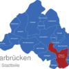 Map Saarbrücken Stadtteile Brebach-Fechingen