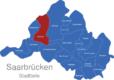 Map Saarbrücken Stadtteile Burbach