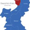 Map Saarpfalz Kreis Baxbach
