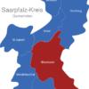 Map Saarpfalz Kreis Blieskastel