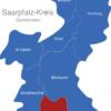 Map Saarpfalz Kreis Gersheim