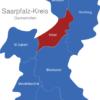 Map Saarpfalz Kreis Kirkel