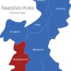 Map Saarpfalz Kreis Mandelbachtal