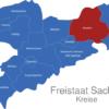 Map Sachsen Landkreise Bautzen
