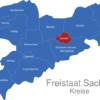 Map Sachsen Landkreise Dresden