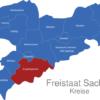 Map Sachsen Landkreise Erzgebirgekreis