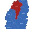 Map Saint Lucia Bezirke Castries