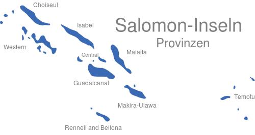 Salomon Inseln Provinzen