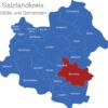 Map Salzlandkreis Bernburg