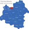 Map Salzlandkreis Borne