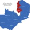 Map Sambia Provinzen Luapula