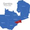 Map Sambia Provinzen Lusaka