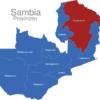 Map Sambia Provinzen Nordprovinz