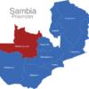 Map Sambia Provinzen Nordwestprovinz