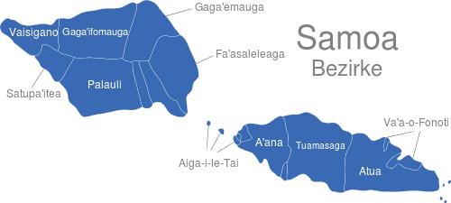 Samoa Bezirke