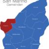Map San Marino Gemeinden Acquaviva