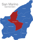 Map San Marino Gemeinden Borgo_Maggiore