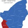 Map San Marino Gemeinden Chiesanueva