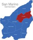 Map San Marino Gemeinden Domagnano