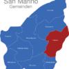 Map San Marino Gemeinden Faetano