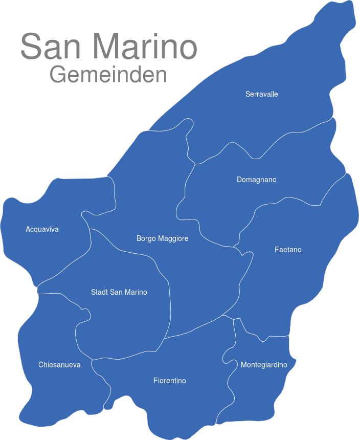 San Marino Gemeinden