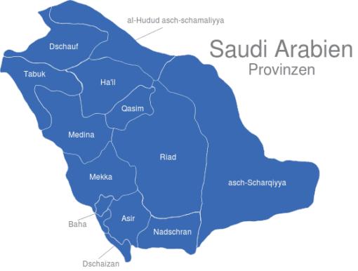 Saudi Arabien Provinzen Karsten