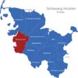 Map Schleswig Holstein Kreise Dithmarschen