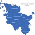 Map Schleswig Holstein Kreise Flensburg