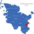 Map Schleswig Holstein Kreise Lubeck_1_