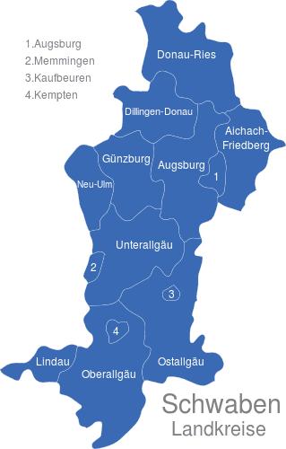 Schwaben Landkreise