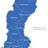 Map Schweden Provinzen Blekinge