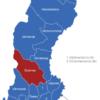 Map Schweden Provinzen Dalarnas