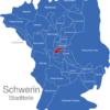 Map Schwerin Stadtteile Feldstadt