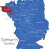 Map Schwerin Stadtteile Friedrichsthal