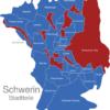 Map Schwerin Stadtteile Gewasser