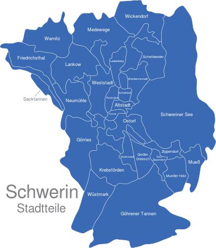 Schwerin Stadtteile