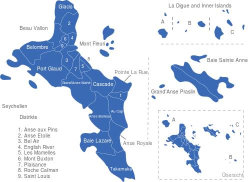 Seychellen Distrikte