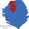 Map Sierra Leone Distrikte Bombali