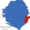 Map Sierra Leone Distrikte Kailahun