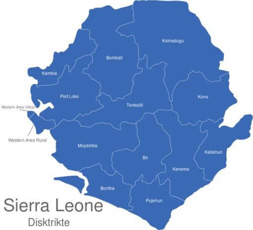 Sierra Leone Distrikte