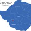 Map Simbabwe Provinzen Bulawayo