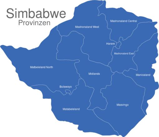 Simbabwe Provinzen