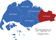 Map Singapur Regionen East_Region