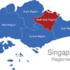 Map Singapur Regionen North-East_Region