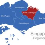 Map Singapur Regionen North-East_Region